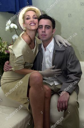 Jerry Hall with Her Co-star Josh Cohen Backstage After the Show