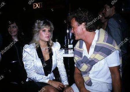 Stock Image of October 1984 Karen Stringfellow's Birthday Party Samantha Fox and Kit Miller