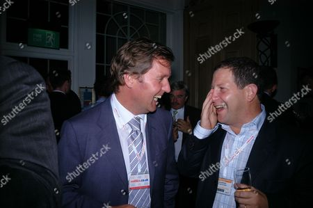 2005 Labour Party Conference Brighton -parties at the Grand Hotel Alan Milburn & John Kampfner
