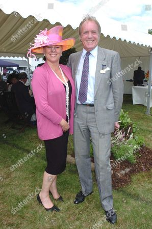 Ladies Day at Epsom Race Course Viscountess Lucy Gormanston and John Rendall