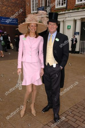 Royal Ascot at York Ladies Day Guy Sangster with His Wife Fiona