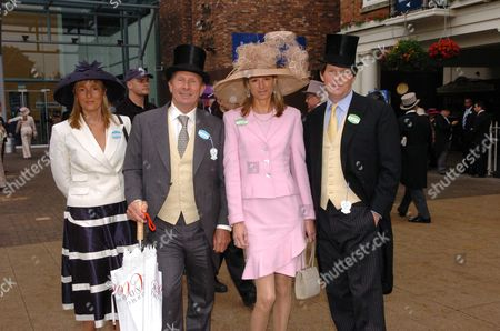 Royal Ascot at York Ladies Day ? Paddy Mcnally with Guy Sangster with His Wife Fiona