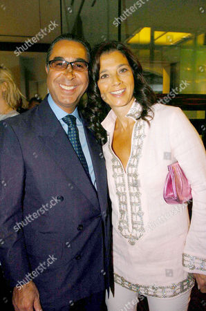 'The Russian House' Book Launch Party at De Beers Showroom Old Bond Street Nasser David Khalili with His Wife
