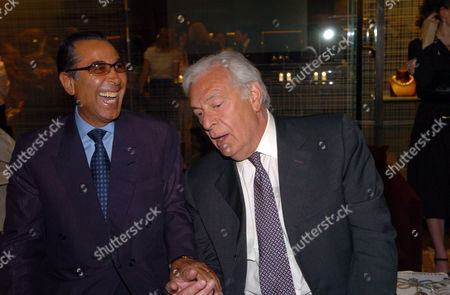 Stock Image of 'The Russian House' Book Launch Party at De Beers Showroom Old Bond Street Nasser David Khalili and Stefan Wingate