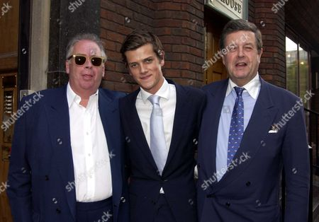 Lord Charles Spencer-churchill with His Son Alexander Spencer-churchill & Lord Hesketh (l)