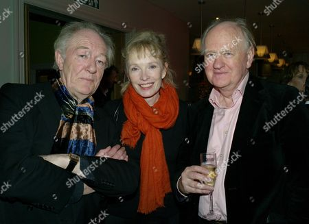Stock Picture of Laurence Olivier Awards Nominees Lunch at the Haymarket Hotel Haymarket London Sir Michael Gambon & Linsay Duncan with Oliver Ford Davis