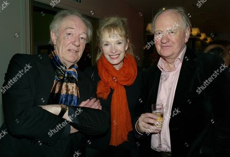 Laurence Olivier Awards Nominees Lunch at the Haymarket Hotel Haymarket London Sir Michael Gambon & Linsay Duncan with Oliver Ford Davis