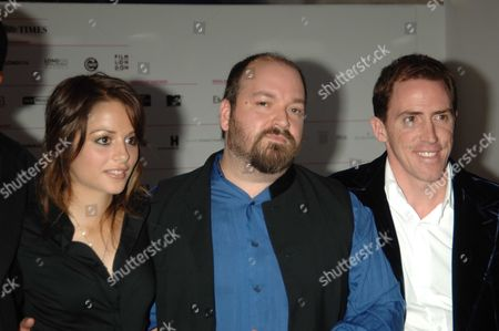 The Bfi London Film Festival Screening of Mirrormask at the Odeon Westend Leicester Square London Stephanie Leonidas the Films Director Dave Mckean & Rob Brydon