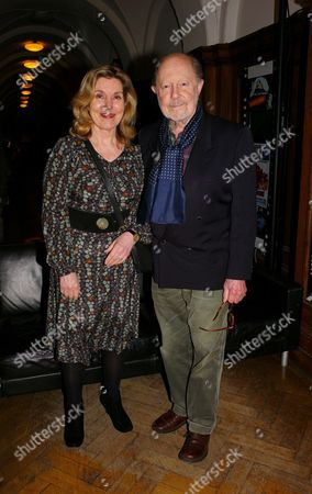 London Evening Standard British Film Awards For 2009 at London Film Museum County Hall Southbank Nicolas Roeg with His Wife Harriett