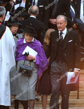The Memorial Service For Lord Brabourne at Guards Chapel Wellington Barracks London the Princess Royal Lady Brabourne & Lord Romsey