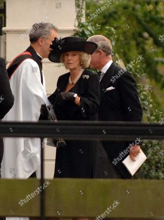 The Memorial Service For Lord Brabourne at Guards Chapel Wellington Barracks London the Duchess of Cornwall & Prince of Wales Arrive