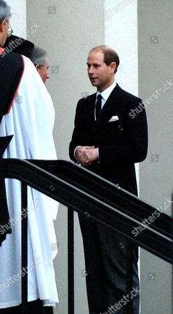 The Memorial Service For Lord Brabourne at Guards Chapel Wellington Barracks London Prince of Wales & the Duke of Wessex