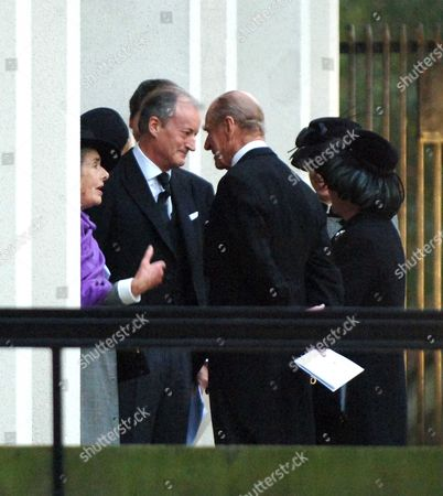 The Memorial Service For Lord Brabourne at Guards Chapel Wellington Barracks London Lady Brabourne Lord Romsey the Duke of Edinburgh & Hm the Queen & Princess Anne