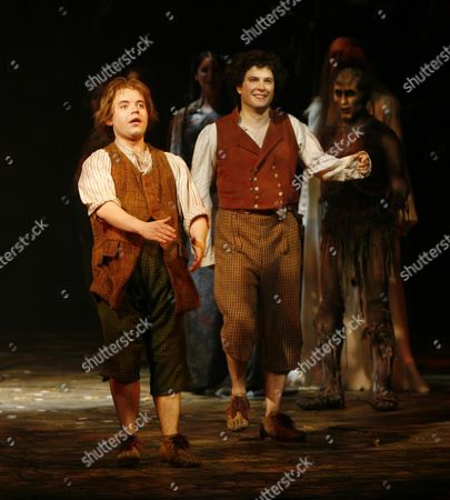 Lord of the Rings Curtain Call and Back Stage at the Theatre Royal Drury Lane Theatre London Peter Howe and James Loye