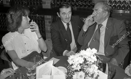 Lunch to Celebrate the Opening of 'The Rib Room' in the Carlton Tower Diana Rigg Graham Stark and Robert Morley