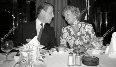 Luncheon at the Dorchester Hotel Edward Fox and Moira Lister