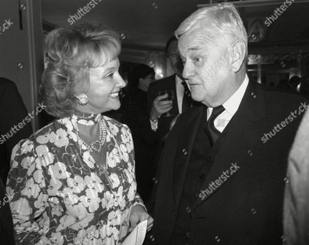 Luncheon at the Dorchester Hotel Moira Lister and Lord Hailsham