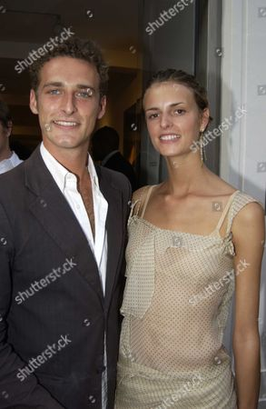 Mario Testino Private View of 'Disciples' at Timothy Taylor Gallery Dering Street London Uk Model Jacuitta Wheeler with Her Boyfriend Mario Testino's Assistance Alexi Lubomirski