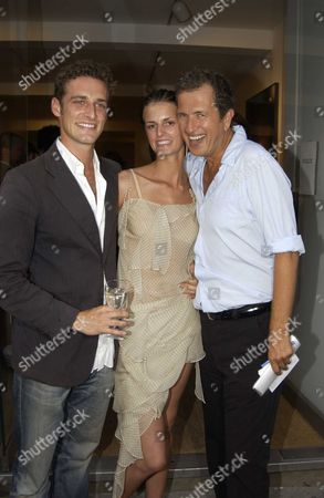 Mario Testino Private View of 'Disciples' at Timothy Taylor Gallery Dering Street London Uk Model Jacuitta Wheeler with Her Boyfriend Mario Testino's Assistance Alexi Lubomirski & Mario