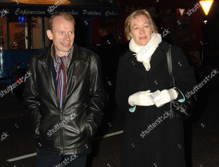 Memorial Service at the Theatre Royal Drury Lane Andrew Marr with His Wife