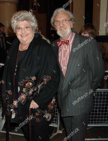 Memorial Service at the Theatre Royal Drury Lane Claire Rayner with Her Husband