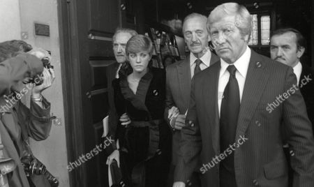 Early 1980's Memorial Service For Peter Sellers at St Martins in the Fields Lynne Fredrick with David Niven & Graham Stark
