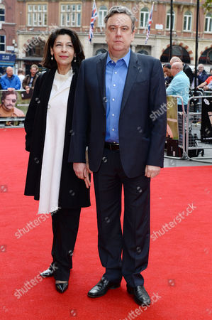 London UK 9th October 2016: Richard Mccabe with His Partner Fotini Dimou at the Premiere of 'mindhorn' at the Odeon Leicester Square During the Bfi London Film Festival On the 9th October, 2016