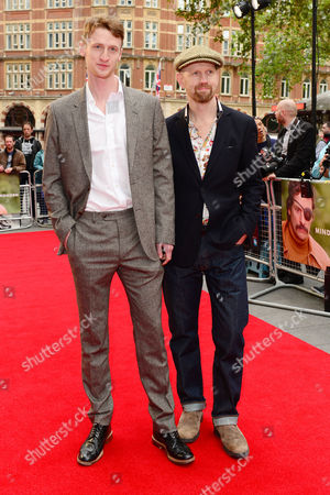 Stock Photo of London UK 9th October 2016: Robin Morrissey and Director Sean Foley at the Premiere of 'mindhorn' at the Odeon Leicester Square During the Bfi London Film Festival On the 9th October, 2016