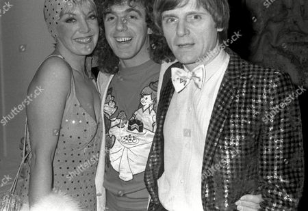 Models 'Glitter' Ball at the Rainbow Room Aimi Macdonald Peter Stringfellow and A Look-a-like