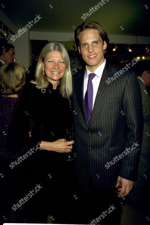 Moet and Chandon Party at Natural History Museum Kensington London Greta Morrison with Her Son Jamie
