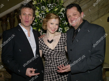 On the Waterfront After Party at No 1 Whitehall Place London Simon Merrells Bryony Afferson and Alex Giannini