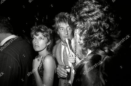 Opening of the Limelight Club in Shaftesbury Avenue Celestia Fox with Rod Stewart