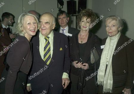 Orion Publishing Party at the Victoria & Albert Museum Brompton Road Lord George Weidenfeld with Dame Helen Mirren Edna O'brien and Clarissa Lady Eden