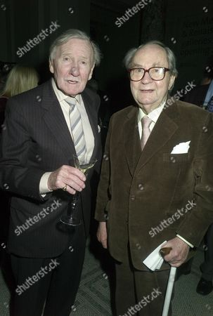Orion Publishing Party at the Victoria & Albert Museum Brompton Road Leslie Phillips and Peter Sallis