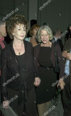 Orion Publishing Party at the Victoria & Albert Museum Brompton Road Edna O'brien and Dame Helen Mirren