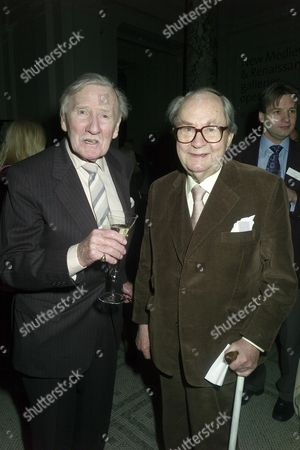 Stock Image of Orion Publishing Party at the Victoria & Albert Museum Brompton Road Leslie Phillips and Peter Sallis