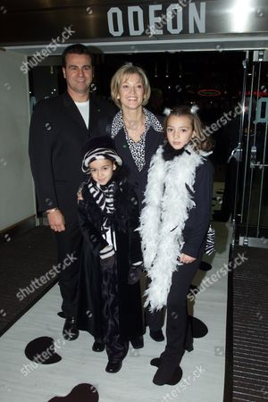 Premiere of '102 Dalmations' at the Odeon Leicester Square Gillian Taylforth with Her Partner Geoff and Their Children Jessica and Harrison