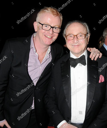 Press Night For 'Love Never Dies' During the Interval at the Adelphi Theatre Chris Evans and David Jacobs