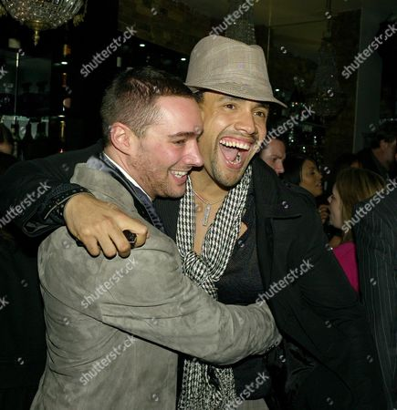 Press Night For 'Rent' at the Duke of York Theatre St Martins Lane William Baker and Leon Lopez ( in Hat)