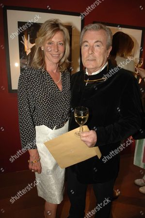 Private View of David Montgomery- 'Shutterbug' at Scream Gallery Bruton Street Lorraine Ashton with Her Husband Terry O'neill