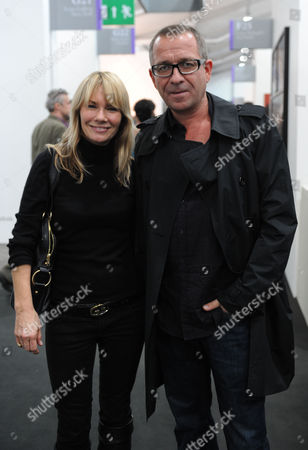 Private View of the Frieze Art Fair at Regents Park Sean Pertwee with His Wife Jacqui Hamilton-smith