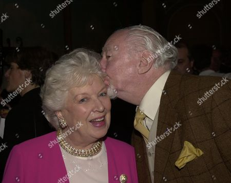Publication Party For 'And June Whitfield the Autobiography' at the Beaufort Room the Savoy June Whitfield and Frank Middlemass