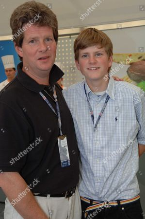 The 41st British Grand Prix at Silverstone Motor Racing Circuit Guy Sangster with His Son