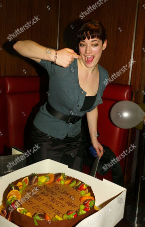 Stock Picture of Surprise Party at Verve Upper St Martins Lane For Laura Michelle Kelly Whos Comes to the End of Her Run in Lord of the Rings This Week She is Going to Star in in the Old Vic's Forthcoming Revival of Speed-the-plow by David Mamet with Kevin Spacey & Jeff Goldblum She Was Presented with A Ring by the Cast As A Farewell Gift Jeff Goldblum Also Attended the Party