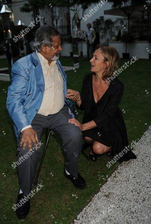 Tatler Magazine Summer Party at the Hempel Hotel Bayswater London Vs Naipaul & Caroline Michel ( Lady Evans)