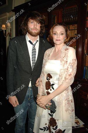 Tatler Magazine Summer Party at Home House Portman Square London Tessa Dahl with Her Son Luke Kelly