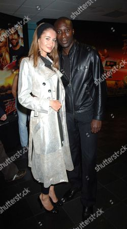 The Uk Premiere of the Dukes of Hazzard at the Vue Cinema Leicester Square London Oswald Boateng with His Wife