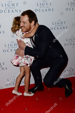 London, England 19th October 2016: Florence Clery and Michael Fassbender at 'the Light Between Oceans' UK Premiere at the Curzon Mayfair in London, England On the 19th October 2016.