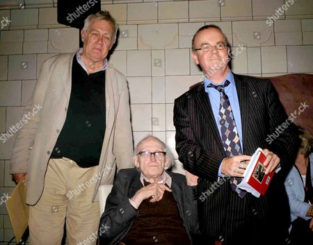 The Paul Foot Award at the Courthouse Hotel Great Marlborough Street London Richard Ingrams & Michael Foot with Ian Hislop