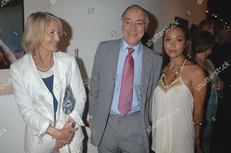 The Sixties Set an Exhibition of Photographs by Robin Douglas-home at the Air Gallery Dover Street London Sandra Howard Michael Howard and Mylene Klass